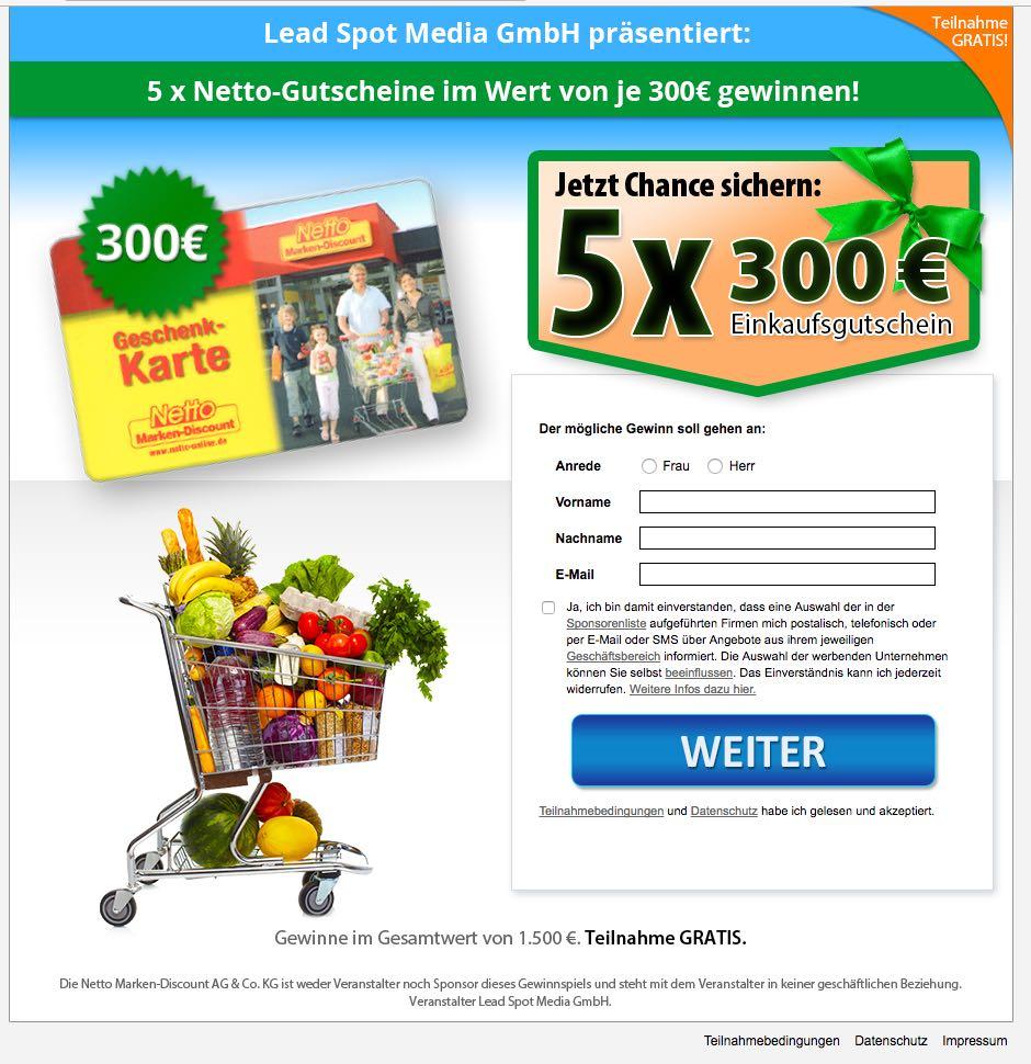 300 Euro Netto Gutschein
