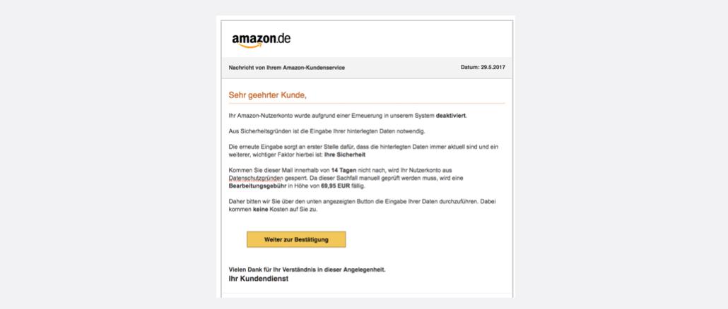 Amazon Spam Phishing Ihr Kundenkonto