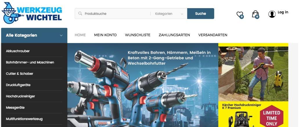 Erfahrungen und Unsicherheiten Onlineshop werkzeugwichtel.de