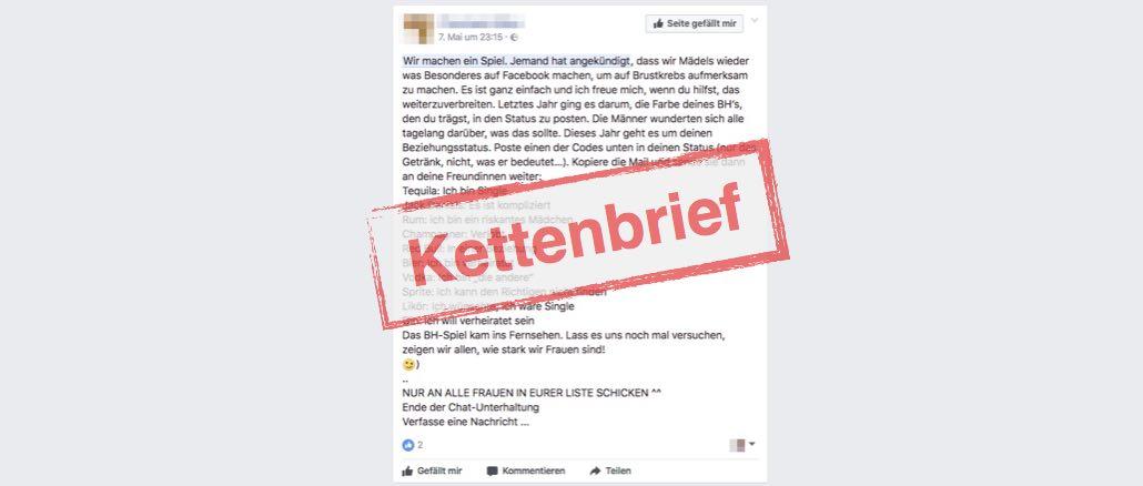 Facebook Kettenbrief - Wir machen ein Spiel