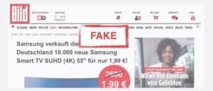 Fake Artikel Bild-Zeitung Betrug Kostenfalle
