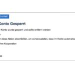 GMX Phishing Konto gesperrt