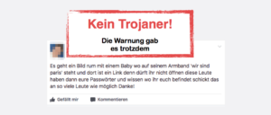 Kettenbrief Facebook & WhatsApp: Es geht ein Bild rum mit einem Baby