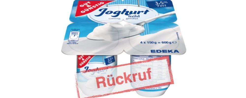 DMK GROUP: Rückruf von Edeka und Marktkauf Gut&Günstig Joghurt wegen Kunststoffteilen