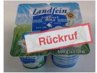 Rückruf Landfein Joghurt Norma