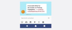 SMS Spam Finanzielle Mittel