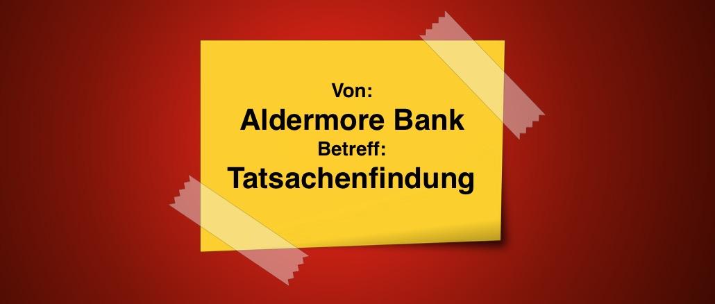 Spam Aldermore Bank Zahlung Sato Seino
