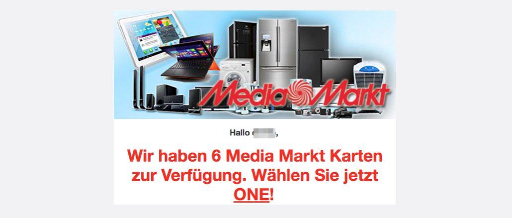 Spam-Mail Media Markt Karten Datensammler Gewinnspiele