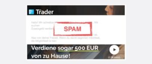 The Trader Spam Mail Nebenjob