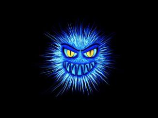 Virus Trojaner Malware Monster Symbolbild