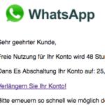 WhatsApp Spam Konto abgelaufen