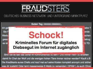 fraudsters.to Forum von Kriminellen im Internet