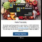 Edeka - nutze Deine exklusive Gewinnchance für einen 500 Euro Edeka-Gutschein