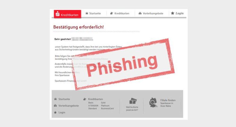 Sparkassen-Mail: Konto: Mustermann-D8239 – Wichtiger Sicherheitshinweis!… ist Phishing