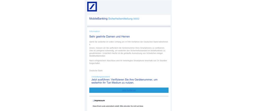 2017-06-12 Phishing Deutsche Bank