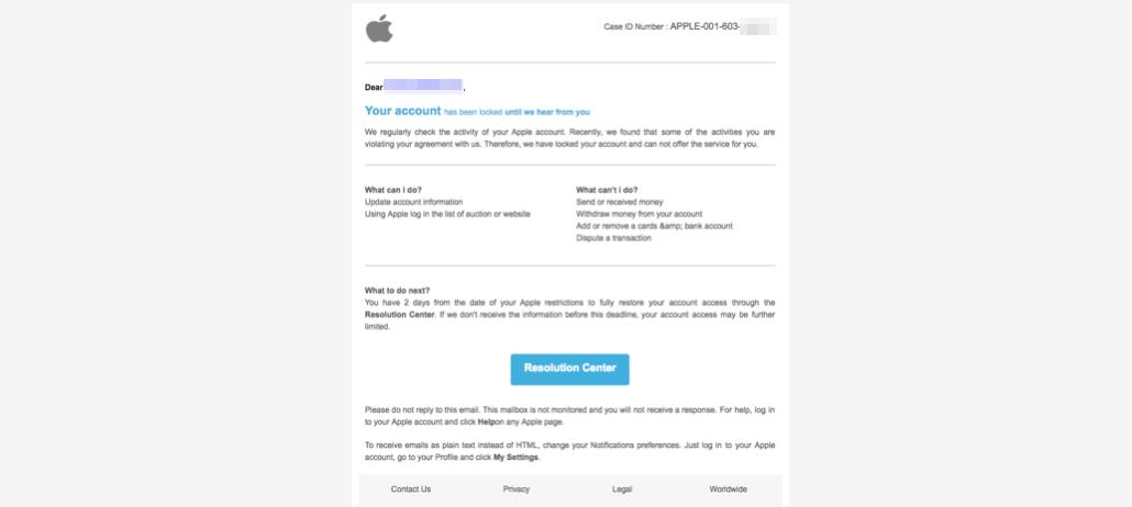 2017-07-31 Apple Phishing