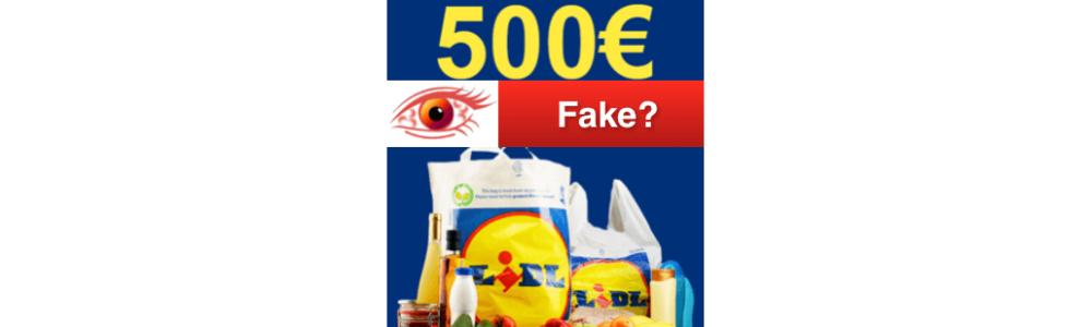 """Vorsicht Falle: E-Mail von lidl-de """"du-hast-gewonnen !!"""" 500 Euro Gutschein"""
