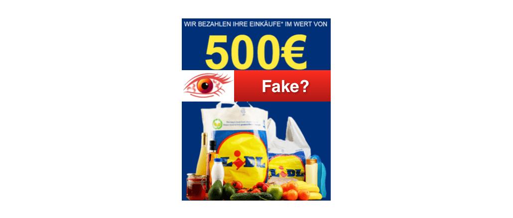 2018-12-21 Lidl Gutschein 500 Euro kostenlose Lebensmittel
