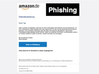 Amazon Kundenservice Datenaktualisierung