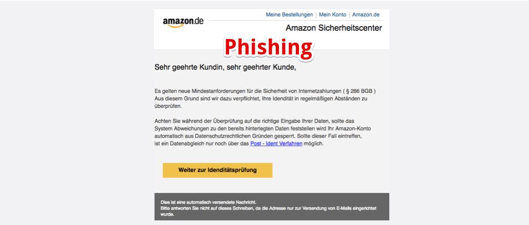 Amazon Phishing Amazon - Sicherheitscenter