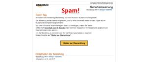 Amazon Spam-Mail Sicherheitswarnung