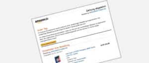 Amazon Spam Phishing Ihr Konto wurde eingeschränkt