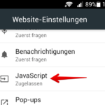 Android Google Chrome Javascript blockieren 4