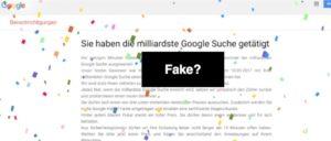 Betrug Fake Milliardste Suchanfrage Google