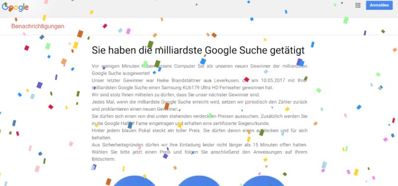 Milliardste Googlesuche