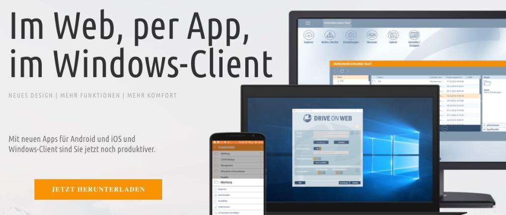 DriveonWeb Cloud-Speicher