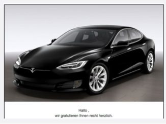 E-Mail Spam Gewinnspiel Tesla Modell S