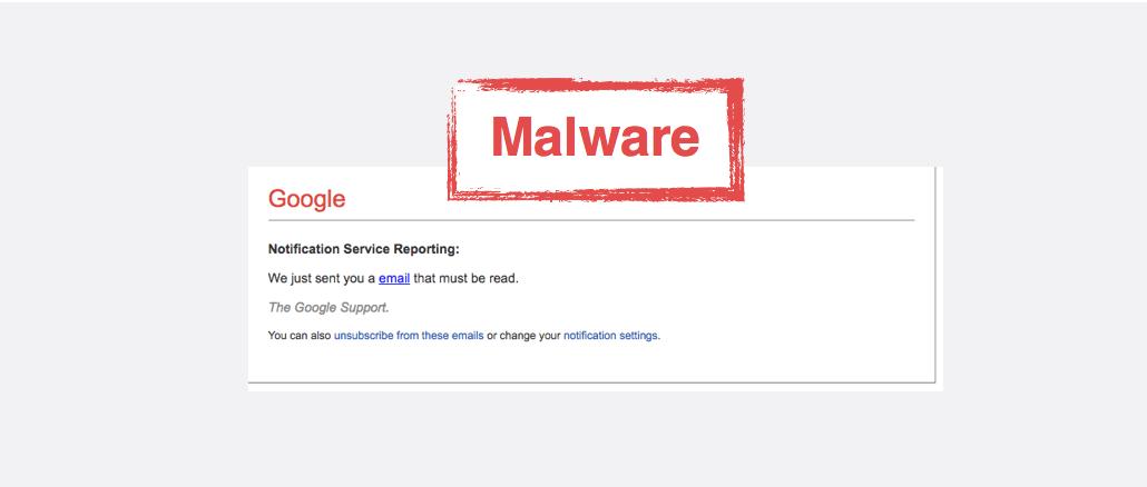 Fake-Mail im Namen von Google lockt auf Malware-Webeite