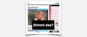 Falschmeldung Donald Trump tritt zurück