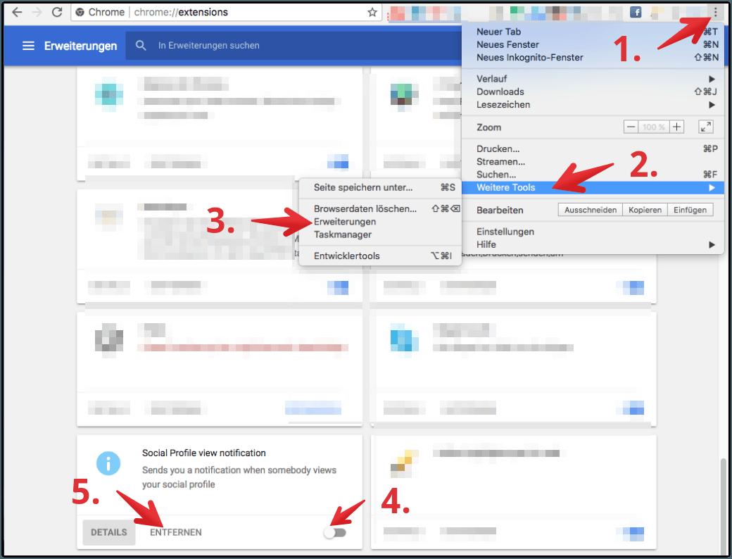 Google Chrome Erweiterungen entfernen oder löschen