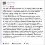 Kettenbrief Facebook Richtlinien
