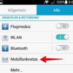 Mobiles Internet Datenroaming ausschalten 2