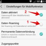 Mobiles Internet Datenroaming ausschalten 3