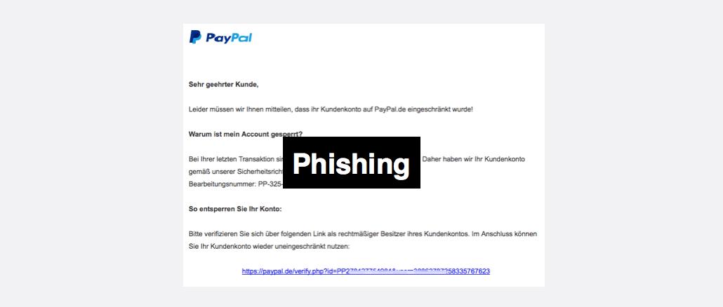 PayPal Spam Kundenkonto eingeschränkt Mithilfe erforderlich