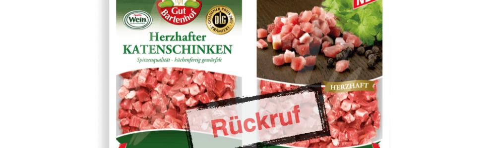 Norma: Rückruf von Gut Bartenhof herzhafter Katenschinken-Salmonellen