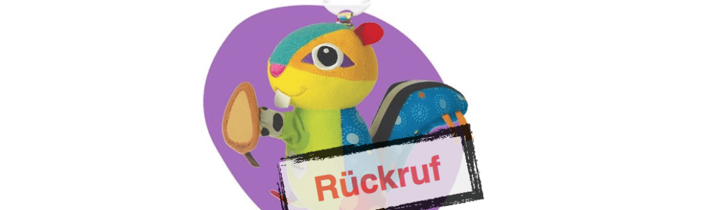 Tomy ruft Baby Spielzeug Siggi Streifenhörnchen zurück – auch bei Amazon verkauft