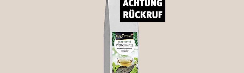 Rückruf Rossmann: King's Crown Kräutertee Pfefferminze nicht mehr trinken