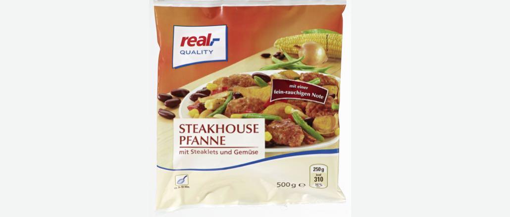Rückruf real Steakhousepfanne