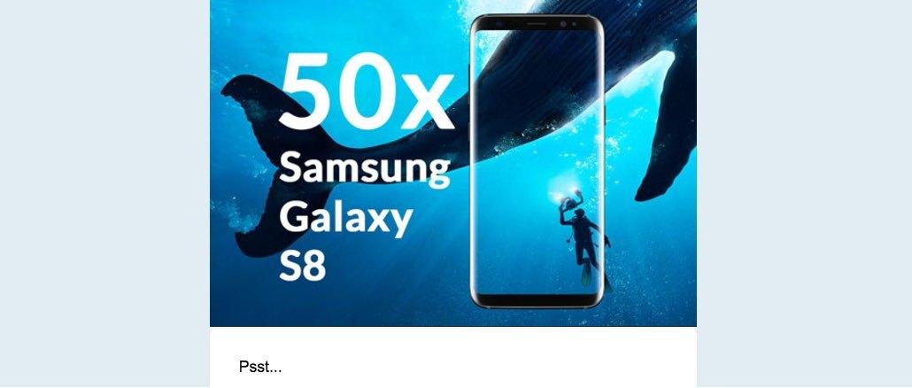 Samsung Galaxy S8 Geschenk Spam-Mail