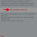 Twitter importierte Kontakte entfernen