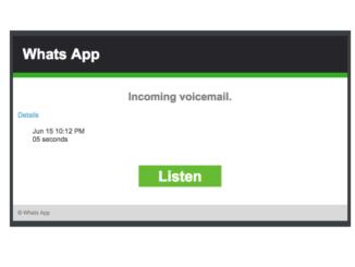 WHatsApp Spam Voicemail Sprachnachricht