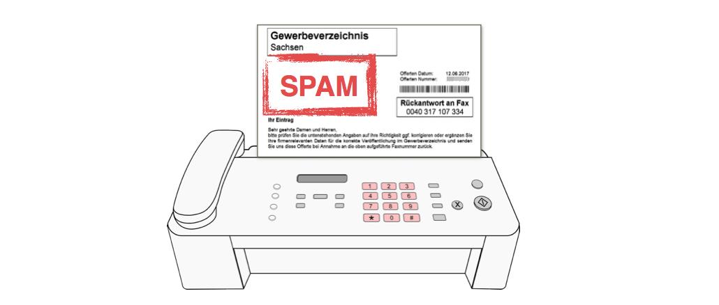 gewerbeverzeichnis-regional.net Fax Spam Branchenbucheintrag