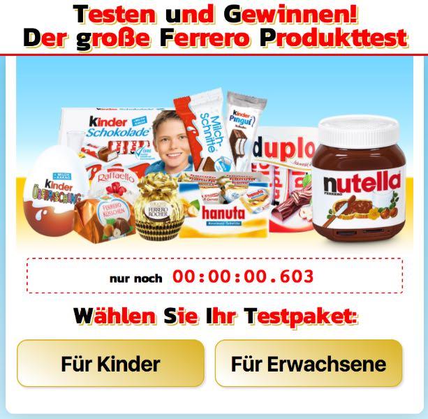 Ferrero Produkttester