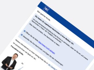 1und1 Spam Phishing ungelesene Nachrichten