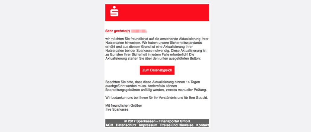 2017-07-19 Sparkasse Spam Sparkasse - Neue Mitteilung