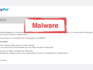 2017-07-23 PayPal Spam Virus Sicherheitshinweis